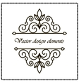 frame with decorative elements vector image