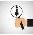 human resources searching silhouette man business vector image