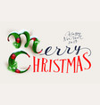 merry christmas and happy new year 2018 text vector image