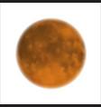 moon realistic yellow planet isolated heavenly vector image