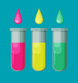 set of tubes flat icon vector image