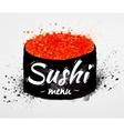Sushi menu poster watercolor vector image