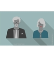 woman and man businessman icons vector image