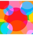 Simple and Colorful Circles Background vector image