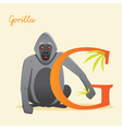 G for gorilla vector image vector image