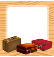 bags and a white background vector image vector image