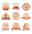 Bakery Logo Emblem Set vector image