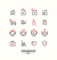 Life insurance icons vector image