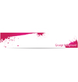 pink grungy banner vector image vector image