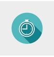 Clock Flat Icon vector image vector image