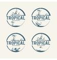 Summer holiday logos vector image
