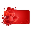 beautiful red frame with rose vector image vector image