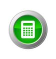 calculator button vector image vector image