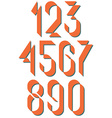 Numerals old style set numbers retro poster or vector image
