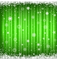 The green snowy background vector image