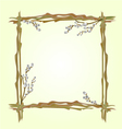 Frame pussy willow branch spring background vector image
