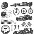Racing Black Icon Set vector image