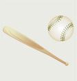 Baseball and Bat vector image