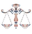 Bright scales zodiac Libra sign vector image