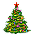 christmas tree on white vector image