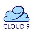 cloud 9 vector image