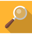 Colorful magnifying glass icon in modern flat vector image