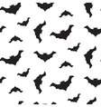Halloween flying bats seamless pattern vector image