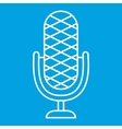 Microphone thin line icon vector image