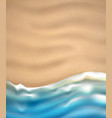 sea wave on sandy beach coast vector image