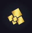 square gold digital logo vector image
