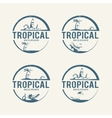 Summer holiday logos vector image
