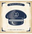 Vintage Captain Hat vector image