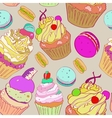 with the image of cakes Bright multi vector image