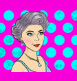 women comic books style on pink background vector image