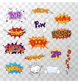 Large set of bright multi colored comic sound vector image