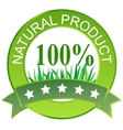 Label for natural products vector image