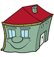 House with Smiling Face vector image vector image