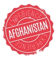 Afghanistan stamp rubber grunge vector image