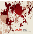 Blood stains vector image