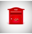 Red mailbox with the postal horn vector image
