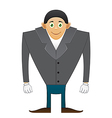 broad shoulders Office man vector image vector image