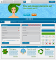 Eco web design elements set vector image