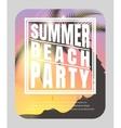 Summer beach party flyer vector image