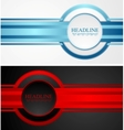 Abstract tech corporate banners vector image