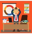 Businessman stress at work vector image