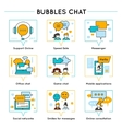 Chat Colored Line Icon Set vector image