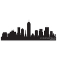 Indianapolis indiana skyline detailed silhouette vector image