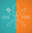 Love food vector image