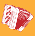 retro accordion vector image