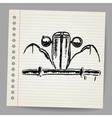 Scribble car vector image
